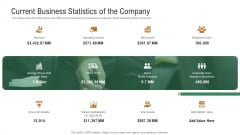 Investor Pitch Deck To Generate Venture Capital Funds Current Business Statistics Of The Company Template PDF