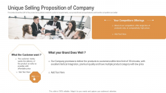 Investor Pitch Deck To Generate Venture Capital Funds Unique Selling Proposition Of Company Inspiration PDF