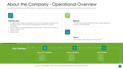 Investor Pitch Gain Funding From ICO About The Company Operational Overview Sample PDF