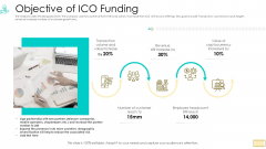 Investor Pitch Ppt For Crypto Funding Objective Of ICO Funding Download PDF