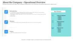 Investor Pitch Ppt Raise Finances Crypto Initial Public Offering About The Company Operational Overview Microsoft PDF