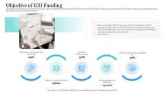Investor Pitch Ppt Raise Finances Crypto Initial Public Offering Objective Of ICO Funding Summary PDF