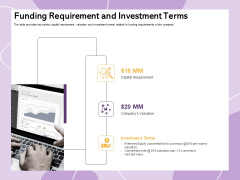 Investor Presentation For Society Funding Funding Requirement And Investment Terms Sample PDF