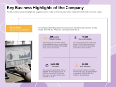 Investor Presentation For Society Funding Key Business Highlights Of The Company Brochure PDF