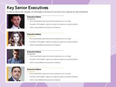 Investor Presentation For Society Funding Key Senior Executives Ppt PowerPoint Presentation Infographics Templates PDF