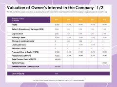 Investor Presentation For Society Funding Valuation Of Owners Interest In The Company Business Pictures PDF