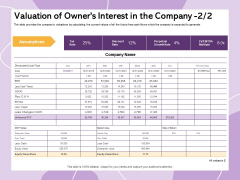 Investor Presentation For Society Funding Valuation Of Owners Interest In The Company Structure PDF