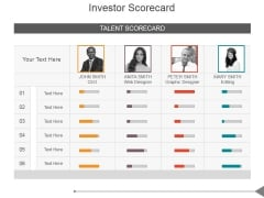 Investor Scorecard Ppt PowerPoint Presentation Design Ideas