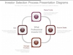 Investor Selection Process Presentation Diagrams