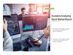 Investors Analyzing Stock Market Report Ppt PowerPoint Presentation Show Brochure