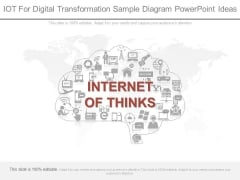 Iot For Digital Transformation Sample Diagram Powerpoint Ideas