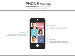 Iphone With Candidate Profiles And Pictures Powerpoint Slides