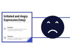 Irritated And Angry Expression Emoji Ppt PowerPoint Presentation Gallery Microsoft PDF