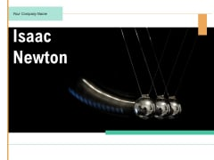 Isaac Newton Gravity Quote Ppt PowerPoint Presentation Complete Deck