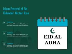 Islam Festival Of Eid Calendar Vector Icon Ppt PowerPoint Presentation Icon Slides PDF