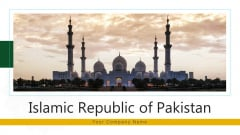 Islamic Republic Of Pakistan Administrative Ppt PowerPoint Presentation Complete Deck With Slides