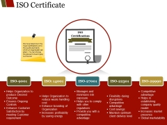 Iso Certificate Ppt PowerPoint Presentation Outline Outfit