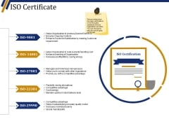 Iso Certificate Ppt PowerPoint Presentation Portfolio Infographics