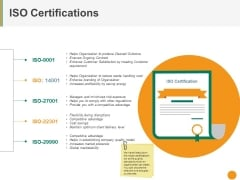 Iso Certifications Ppt PowerPoint Presentation Show Graphics Pictures