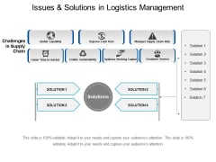 Issues And Solutions In Logistics Management Ppt PowerPoint Presentation Icon Sample