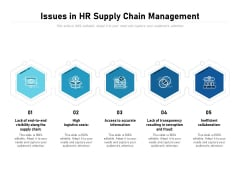 Issues In HR Supply Chain Management Ppt PowerPoint Presentation File Information PDF
