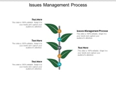 Issues Management Process Ppt PowerPoint Presentation Infographics Designs Download Cpb