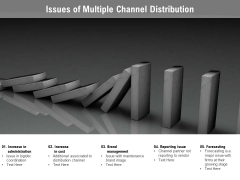 Issues Of Multiple Channel Distribution Ppt PowerPoint Presentation Icon Model