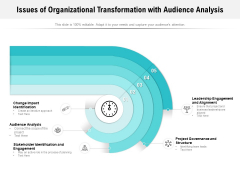 Issues Of Organizational Transformation With Audience Analysis Ppt PowerPoint Presentation Icon Example PDF