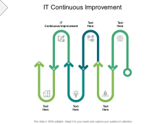 It Continuous Improvement Ppt PowerPoint Presentation Slides Icons Cpb