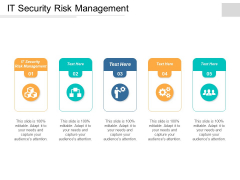 It Security Risk Management Ppt Powerpoint Presentation Outline Guidelines Cpb