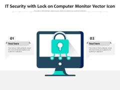 It Security With Lock On Computer Monitor Vector Icon Ppt PowerPoint Presentation Pictures Visual Aids PDF