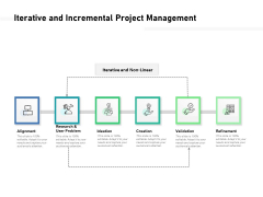 Iterative And Incremental Project Management Ppt PowerPoint Presentation Pictures Show PDF