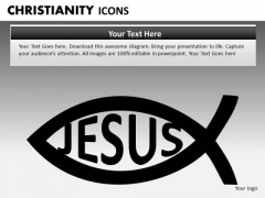 Ichthys Jesus Fish PowerPoint Ppt Templates