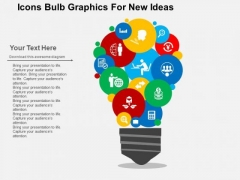 Icons Bulb Graphics For New Ideas PowerPoint Template
