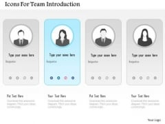 Icons For Team Introduction PowerPoint Template