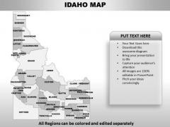 Idaho PowerPoint Maps
