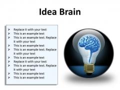 Idea Brain Business PowerPoint Presentation Slides C