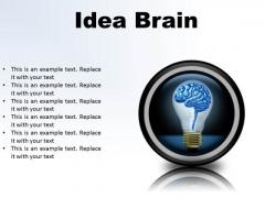 Idea Brain Business PowerPoint Presentation Slides Cc