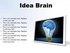 Idea Brain Business PowerPoint Presentation Slides F