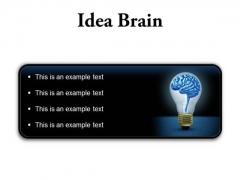 Idea Brain Business PowerPoint Presentation Slides R