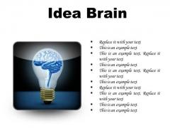 Idea Brain Business PowerPoint Presentation Slides S