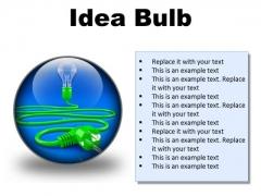 Idea Bulb Business PowerPoint Presentation Slides C