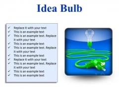 Idea Bulb Business PowerPoint Presentation Slides S