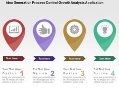 Idea Generation Process Control Growth Analysis Application PowerPoint Template