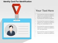 Identity Card For Identification PowerPoint Template