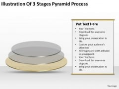 Illustration Of 3 Stages Pyramid Process Ppt Business Plan PowerPoint Templates