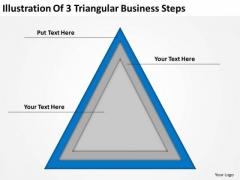 Illustration Of 3 Triangular Business Steps Ppt Prepare Plan PowerPoint Templates