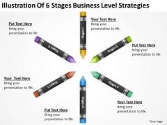 Illustration Of 6 Stages Business Level Strategies Ppt Sample Plans PowerPoint Slides