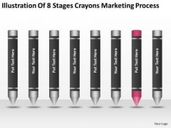 Illustration Of 8 Stages Crayons Marketing Process Ppt Business Plan Samples PowerPoint Slides