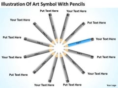 Illustration Of Art Symbol With Pencils Businessplan PowerPoint Templates